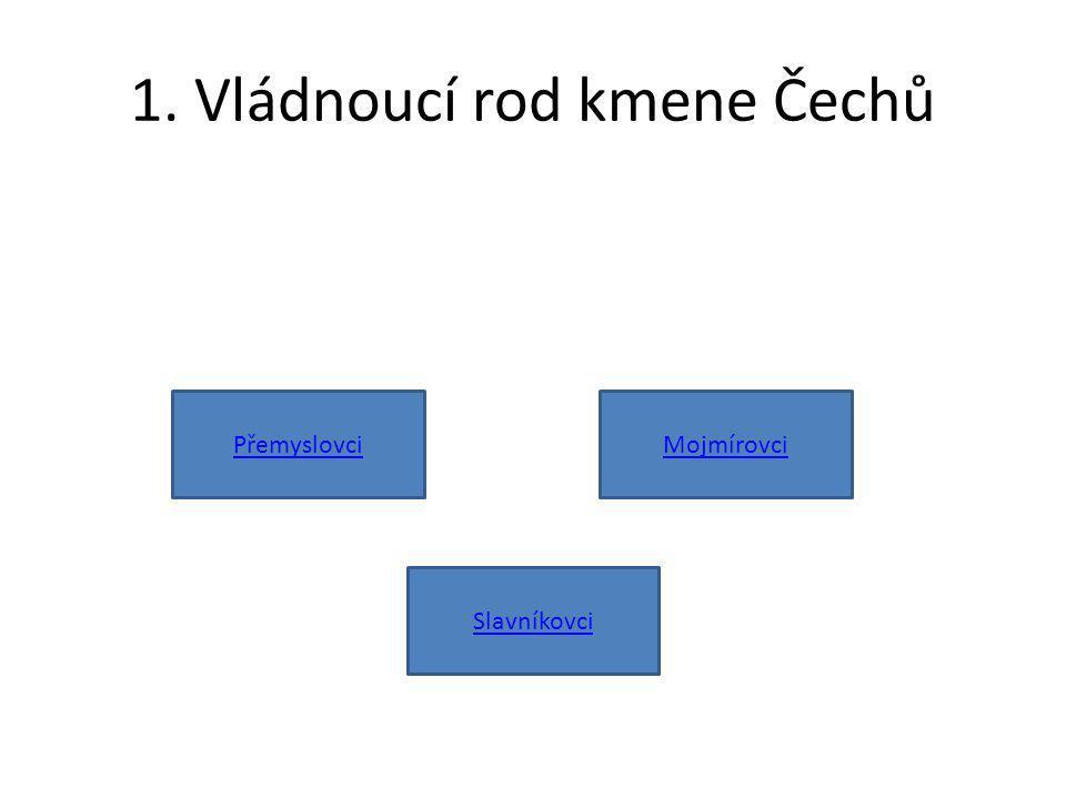 1. Vládnoucí rod kmene Čechů