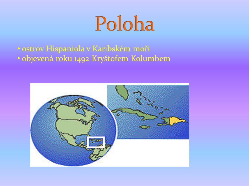 Poloha ostrov Hispaniola v Karibském moři
