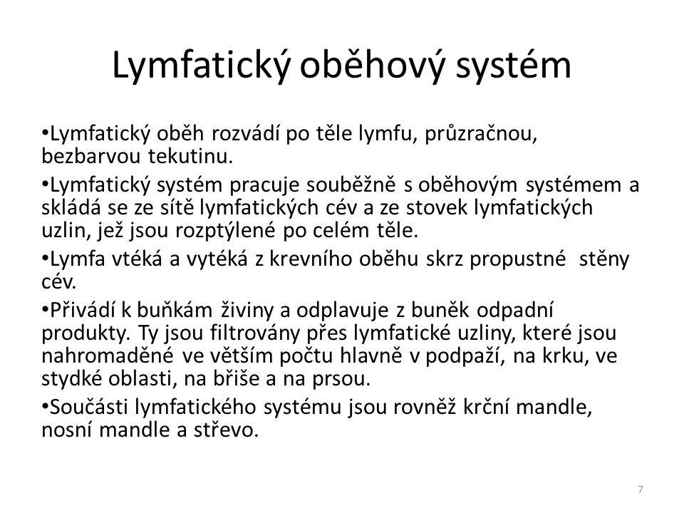 Lymfatický oběhový systém