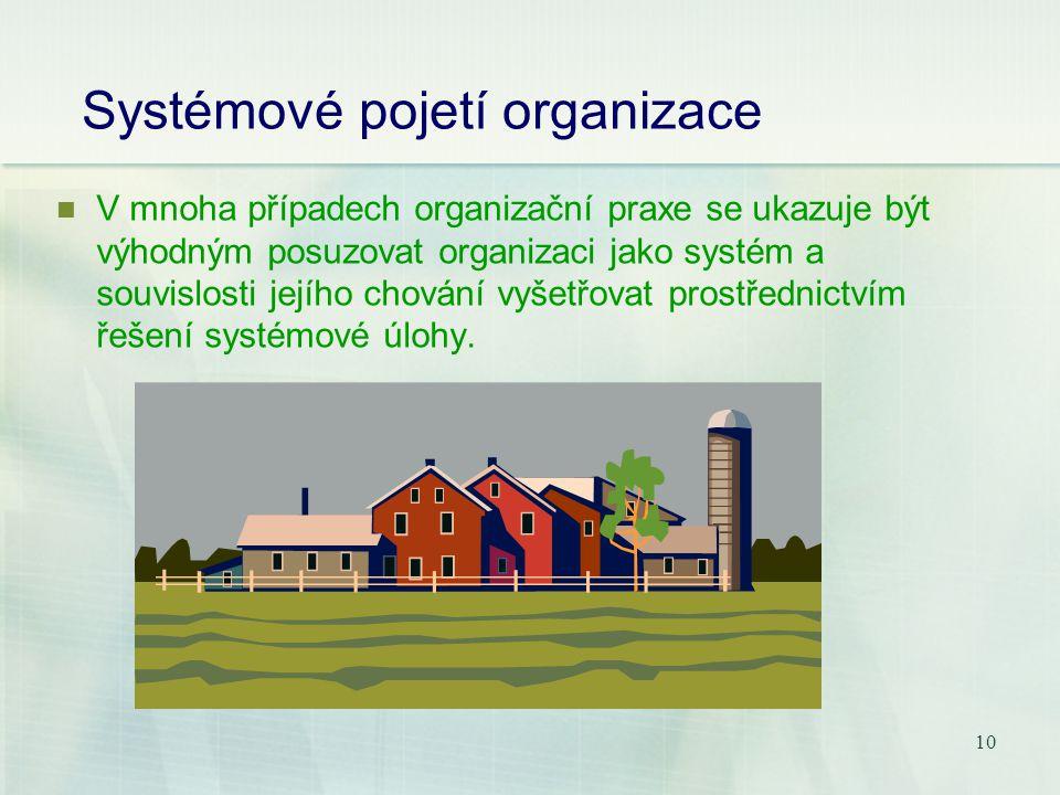 Systémové pojetí organizace