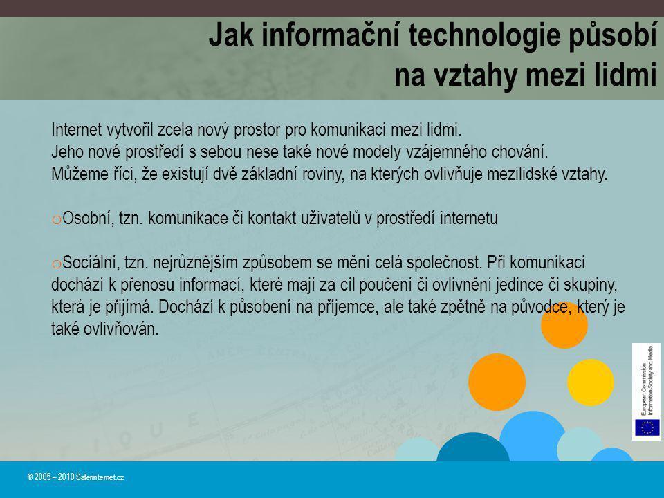 Jak informační technologie působí na vztahy mezi lidmi