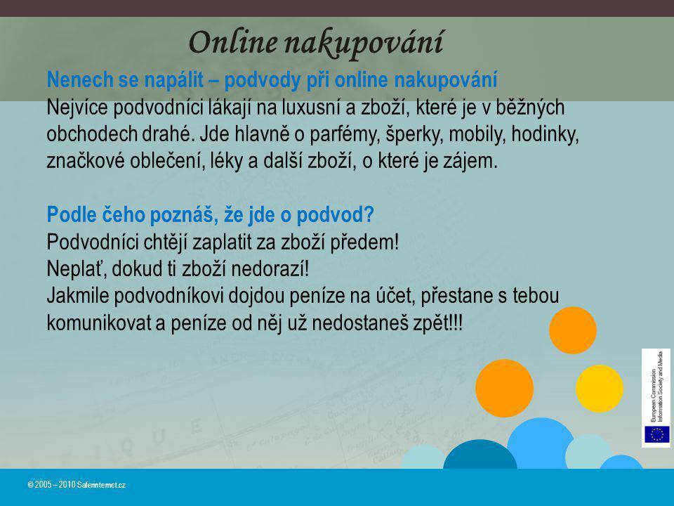 Online nakupování Nenech se napálit – podvody při online nakupování