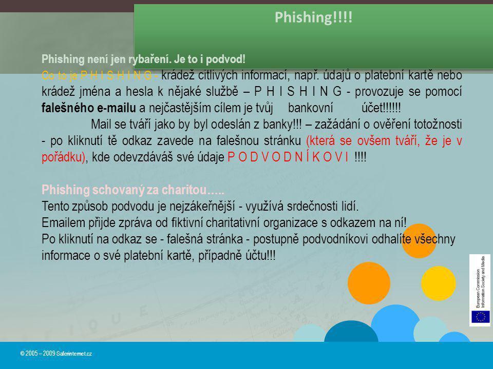 Phishing!!!! Phishing není jen rybaření. Je to i podvod!