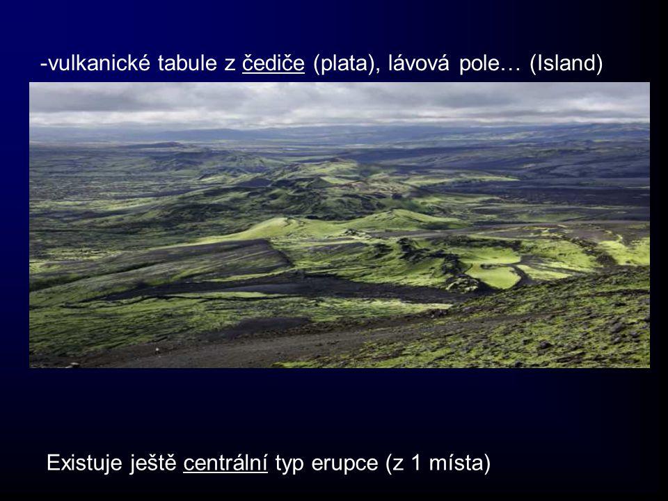 -vulkanické tabule z čediče (plata), lávová pole… (Island)
