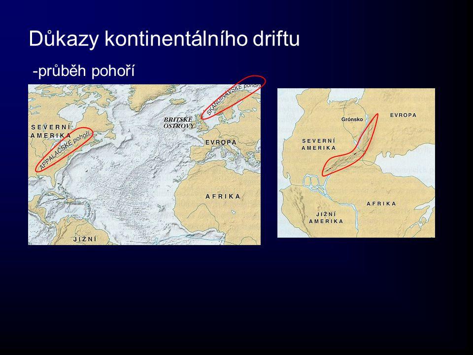 Důkazy kontinentálního driftu