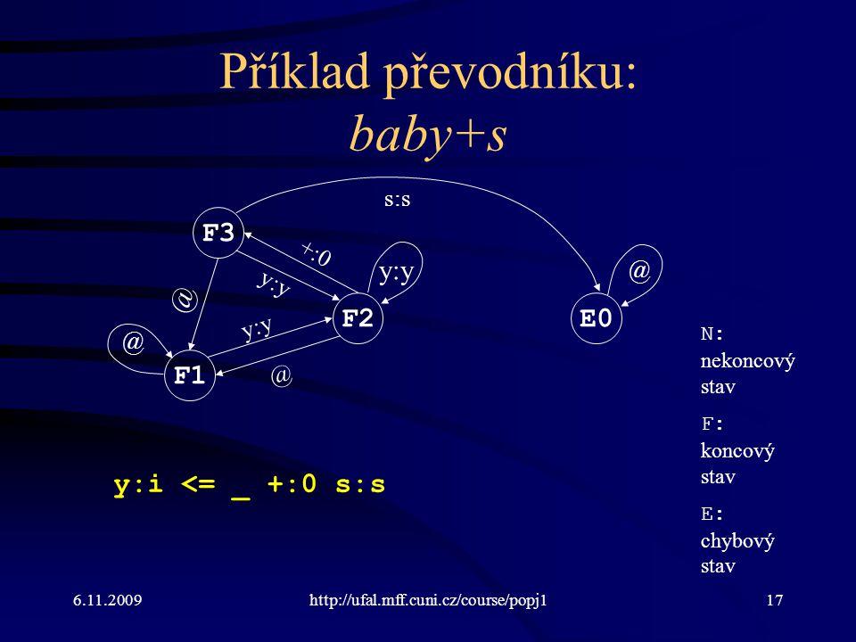 Příklad převodníku: baby+s