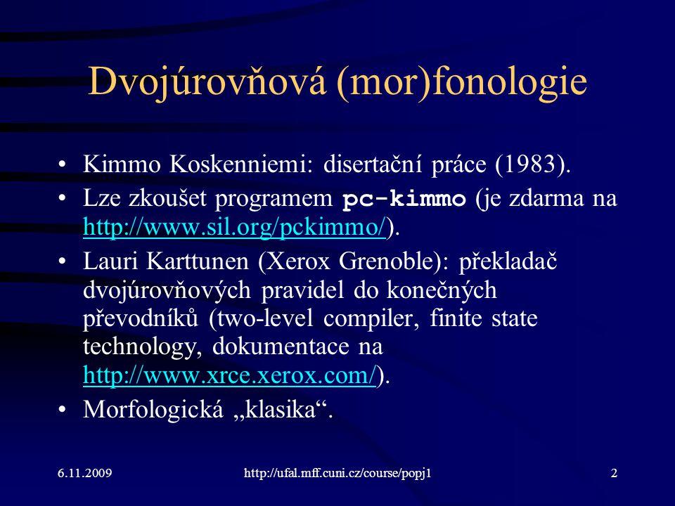 Dvojúrovňová (mor)fonologie