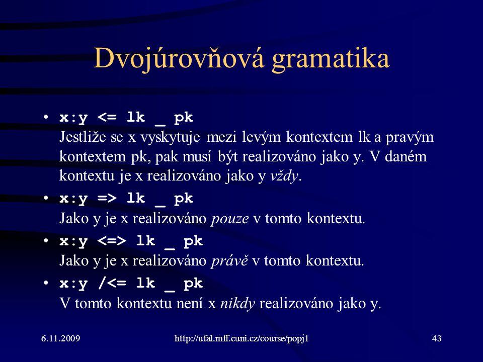 Dvojúrovňová gramatika