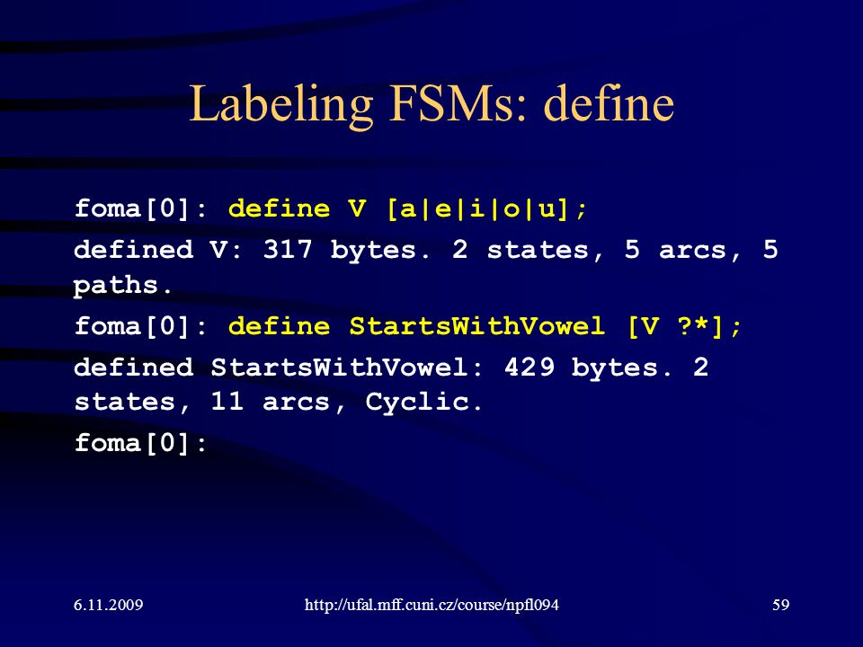 Labeling FSMs: define