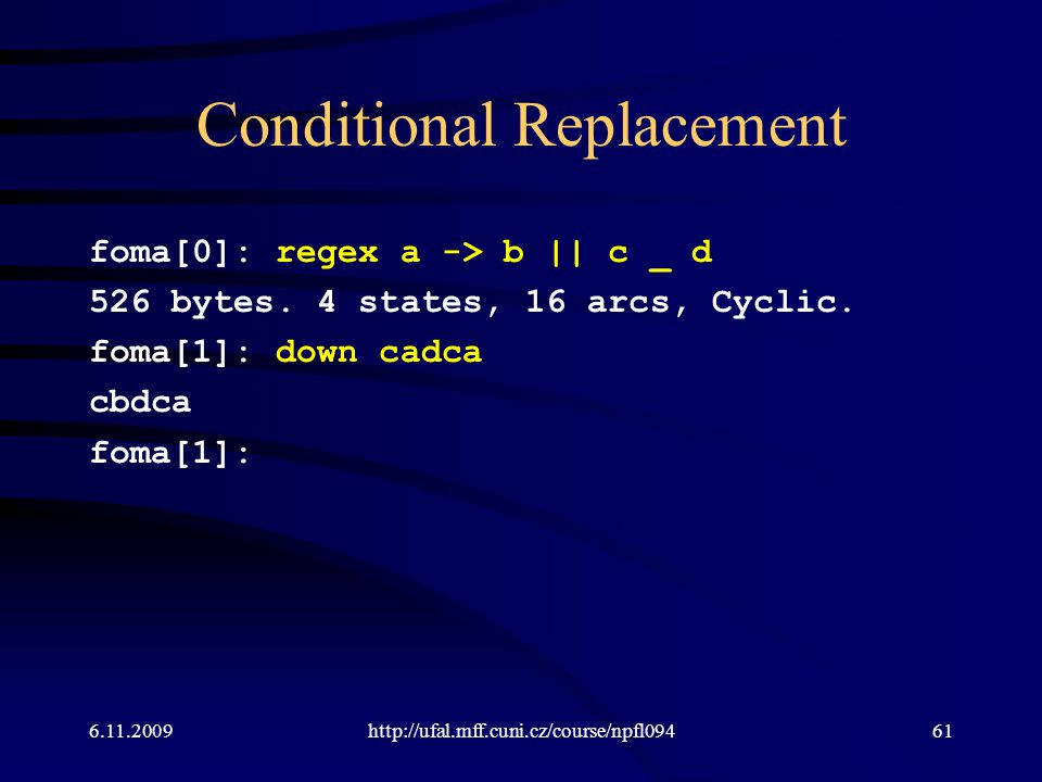 Conditional Replacement