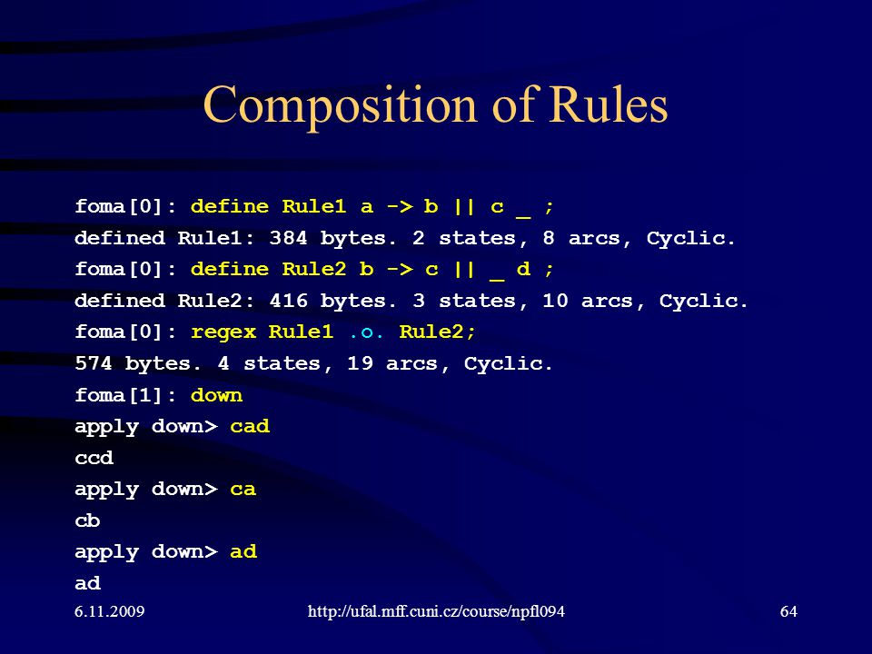 Composition of Rules