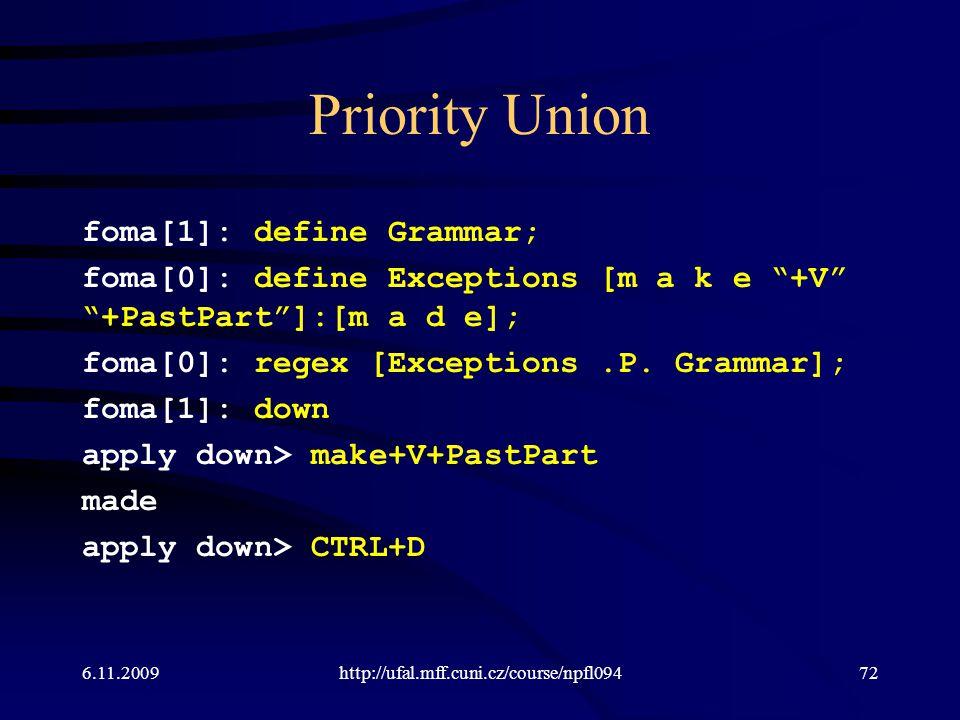 Priority Union