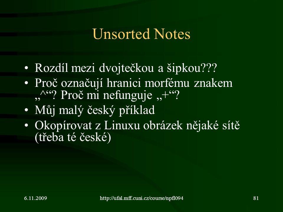 Unsorted Notes Rozdíl mezi dvojtečkou a šipkou