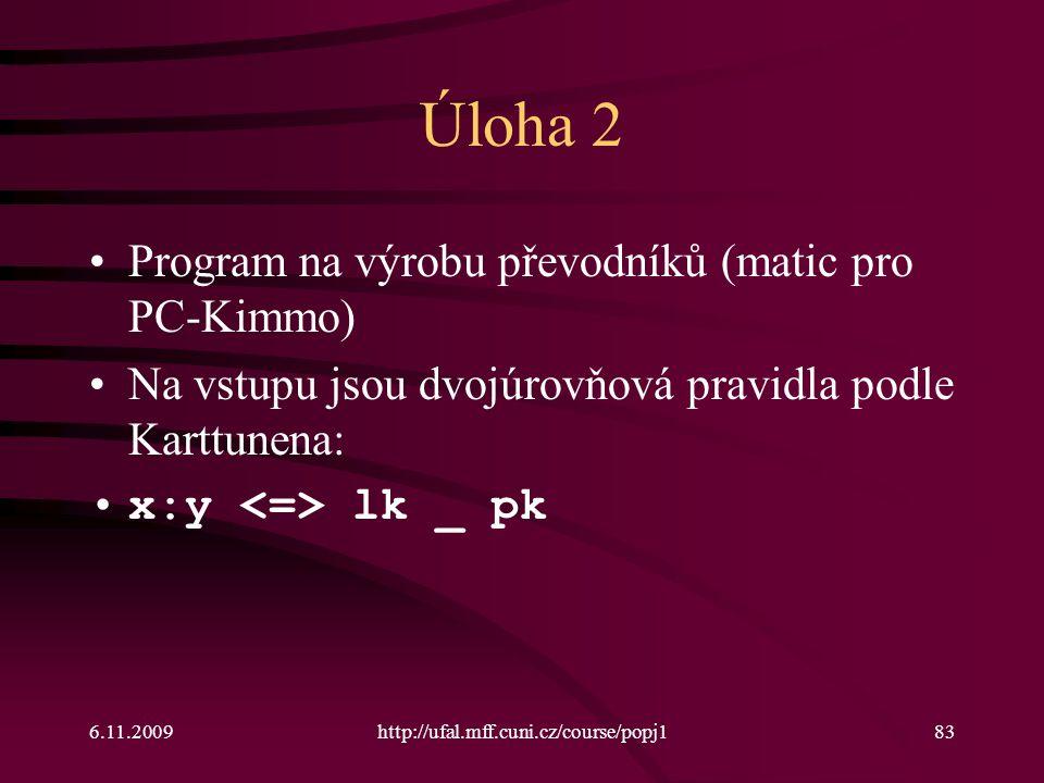 Úloha 2 Program na výrobu převodníků (matic pro PC-Kimmo)