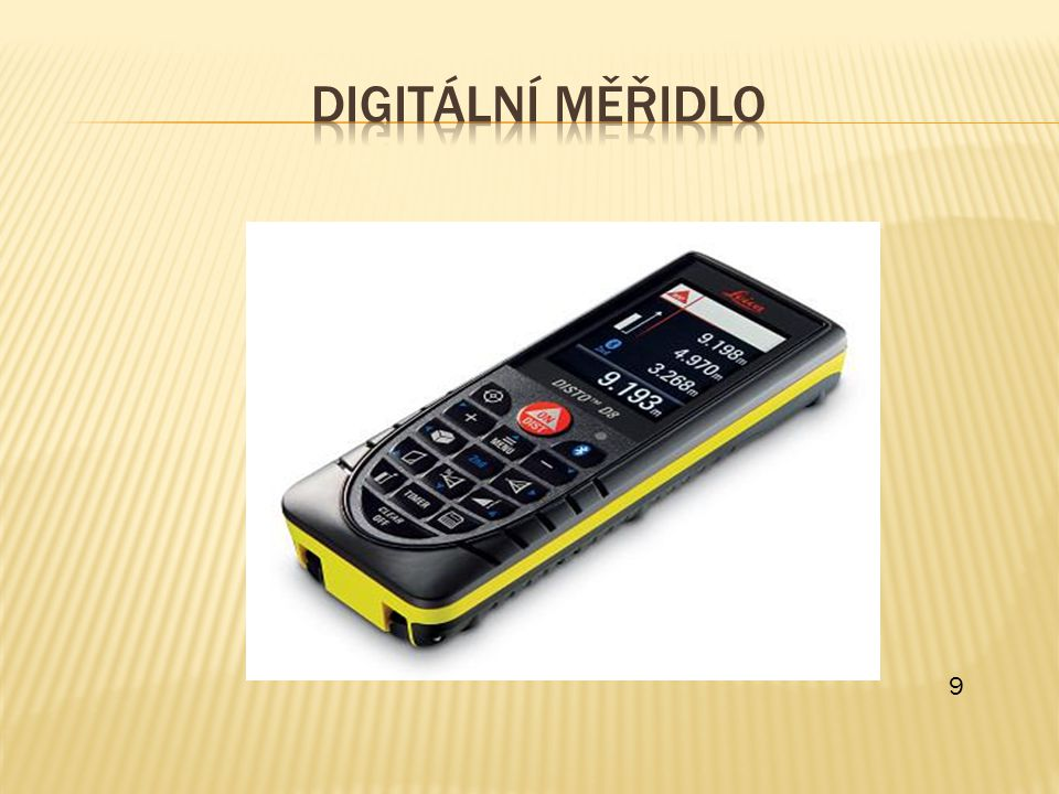 Digitální měřidlo 9