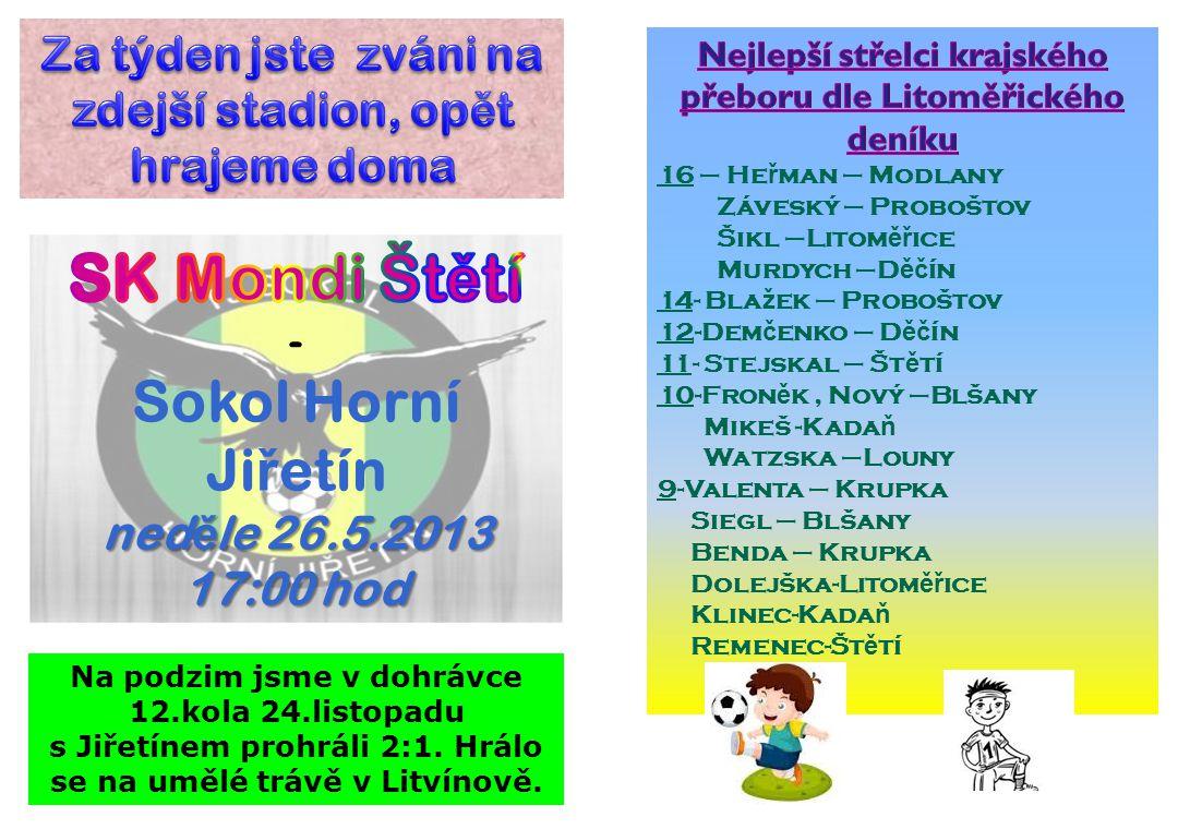 SK Mondi Štětí Sokol Horní Jiřetín