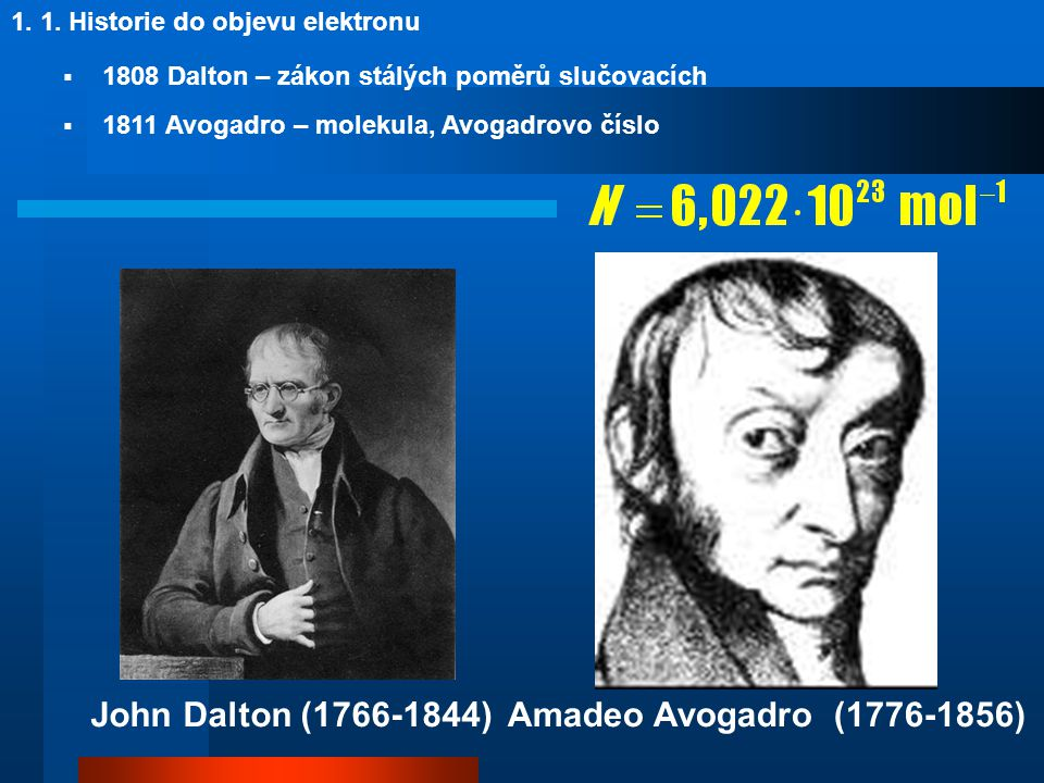 John Dalton (1766-1844) Amadeo Avogadro (1776-1856)