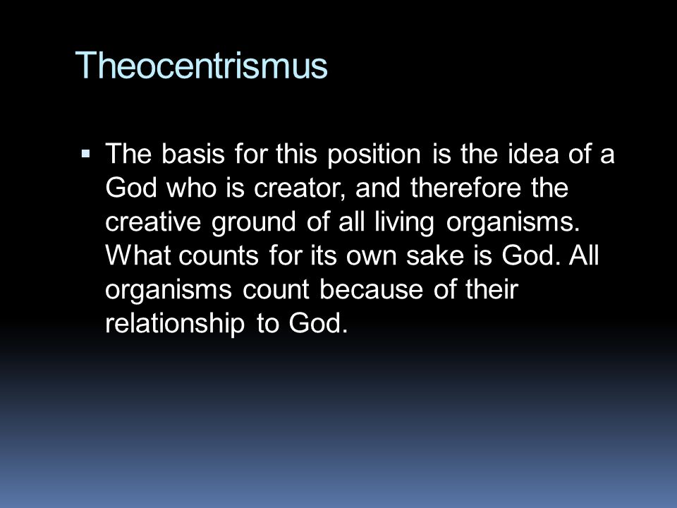 Theocentrismus