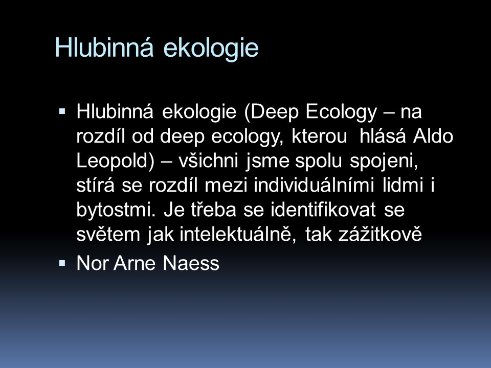 Hlubinná ekologie