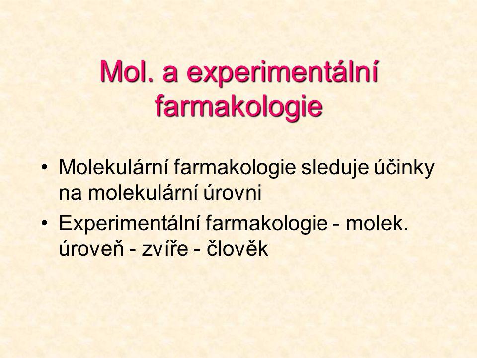 Mol. a experimentální farmakologie