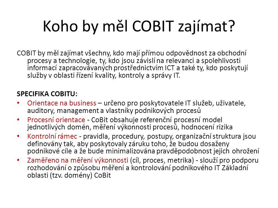 Koho by měl COBIT zajímat