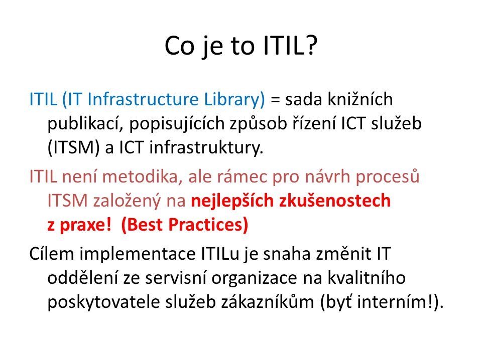 Co je to ITIL
