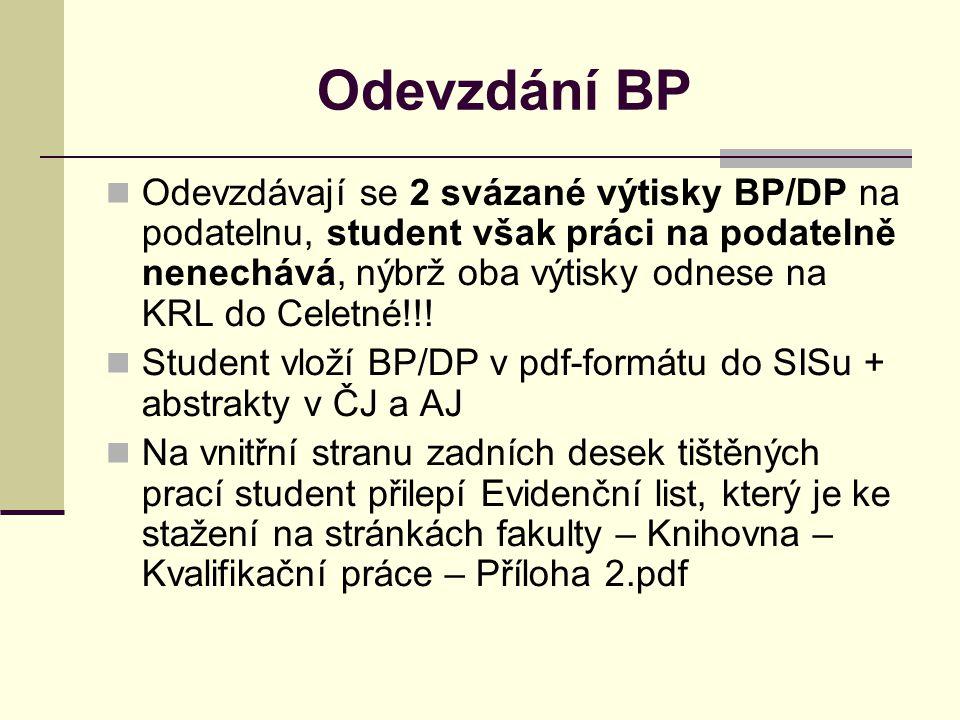 Odevzdání BP