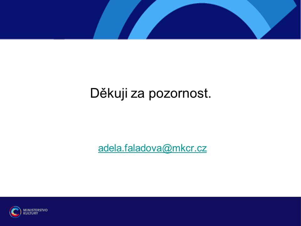 Děkuji za pozornost. adela.faladova@mkcr.cz