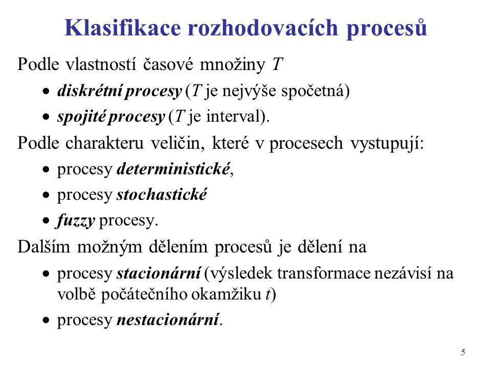 Klasifikace rozhodovacích procesů