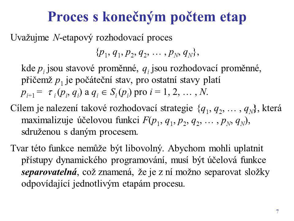 Proces s konečným počtem etap