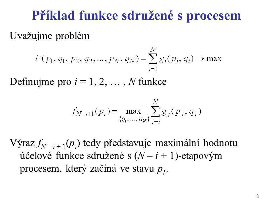 Příklad funkce sdružené s procesem