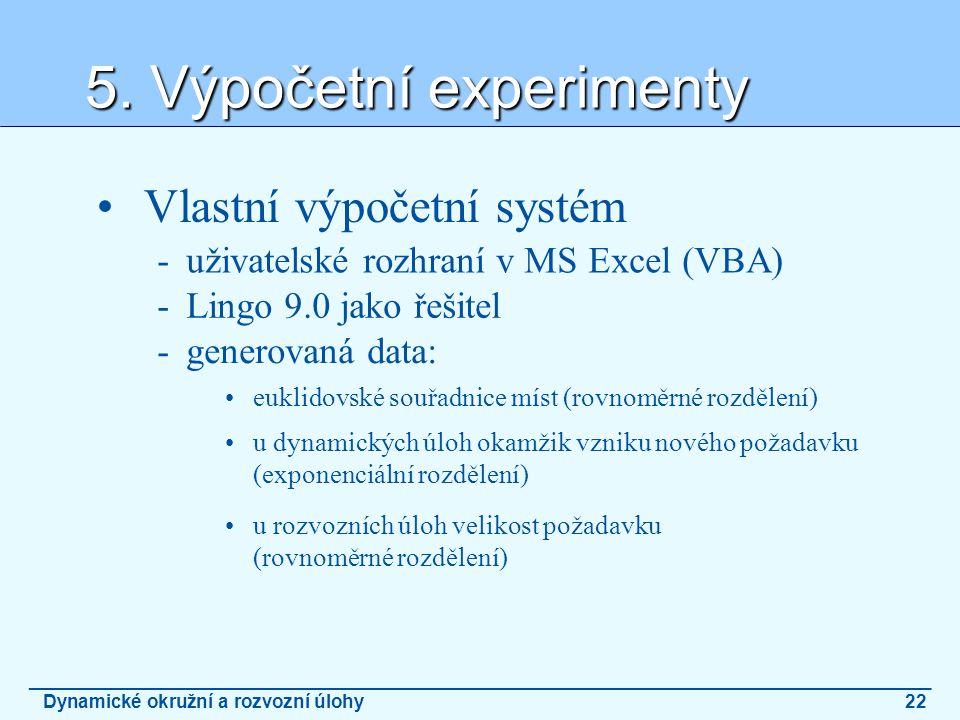 5. Výpočetní experimenty