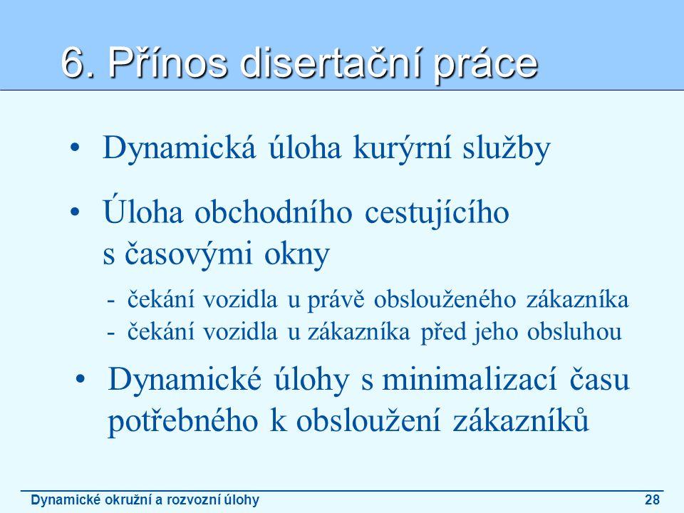 6. Přínos disertační práce