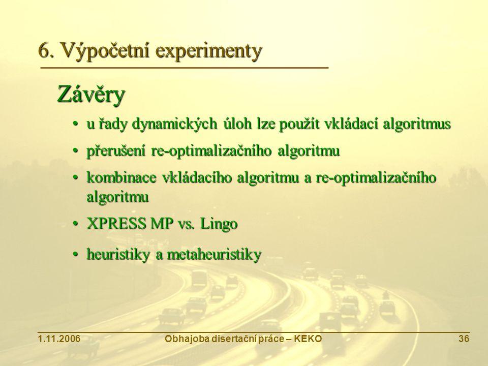 6. Výpočetní experimenty