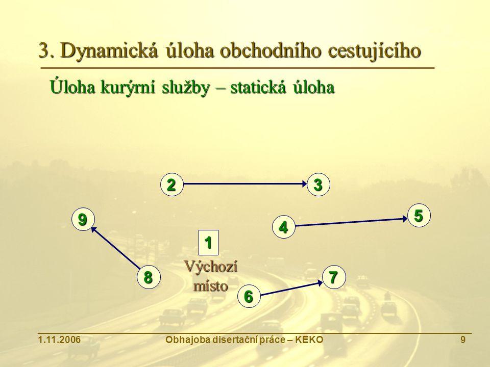 3. Dynamická úloha obchodního cestujícího