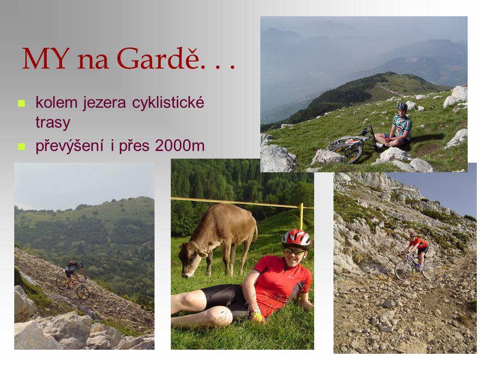 MY na Gardě. . . kolem jezera cyklistické trasy převýšení i přes 2000m
