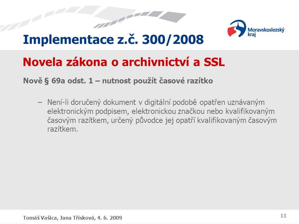 Novela zákona o archivnictví a SSL