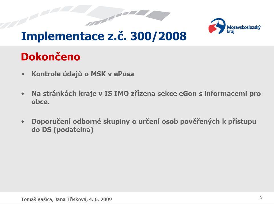 Dokončeno Kontrola údajů o MSK v ePusa