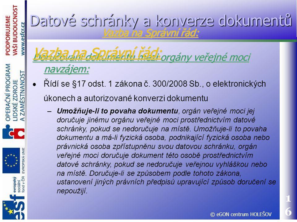 Datové schránky a konverze dokumentů