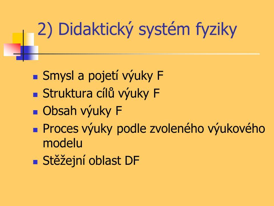 2) Didaktický systém fyziky