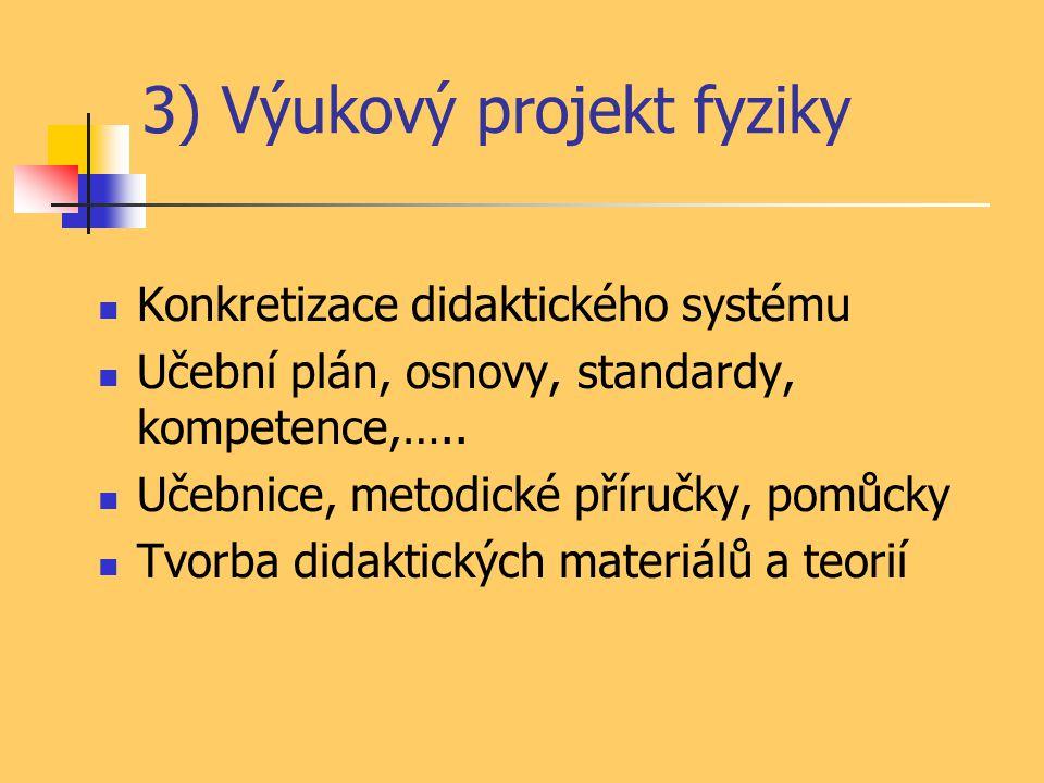 3) Výukový projekt fyziky