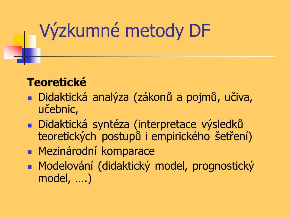 Výzkumné metody DF Teoretické