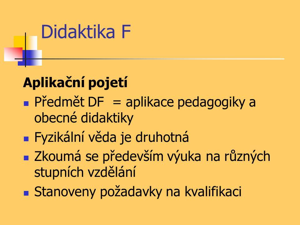 Didaktika F Aplikační pojetí