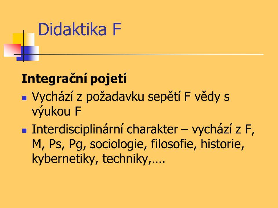 Didaktika F Integrační pojetí
