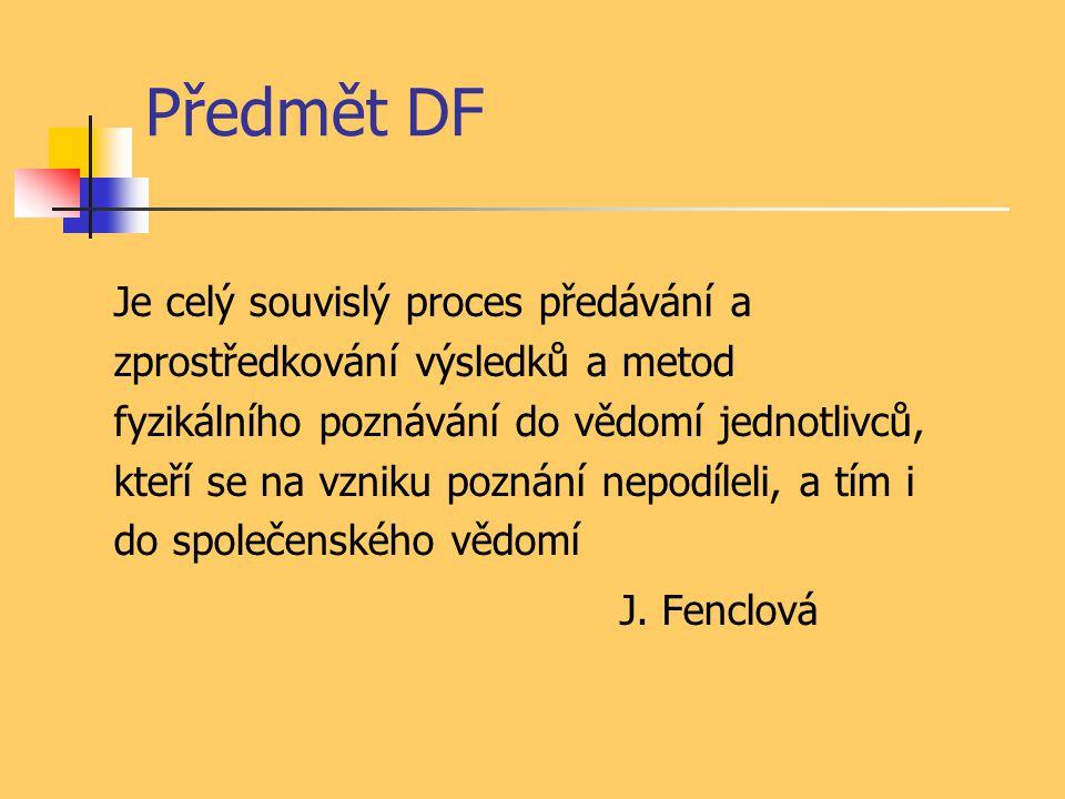 Předmět DF