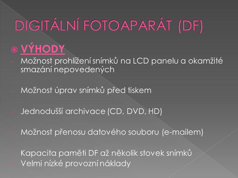 DIGITÁLNÍ FOTOAPARÁT (DF)