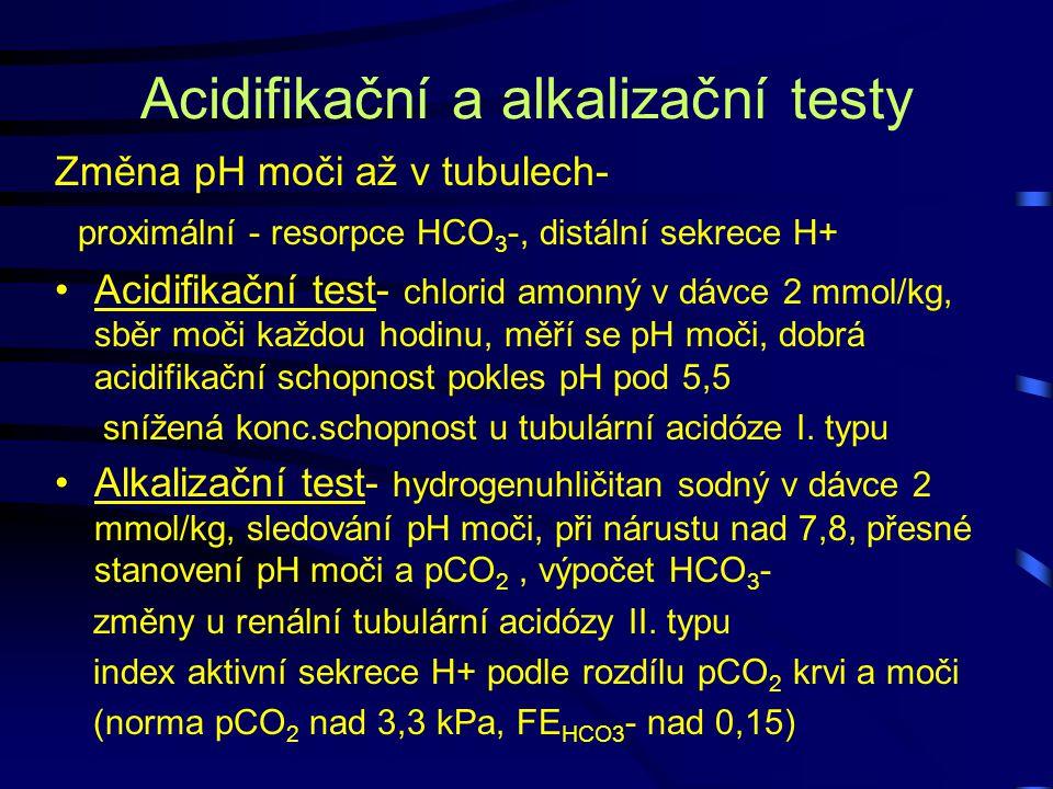 Acidifikační a alkalizační testy