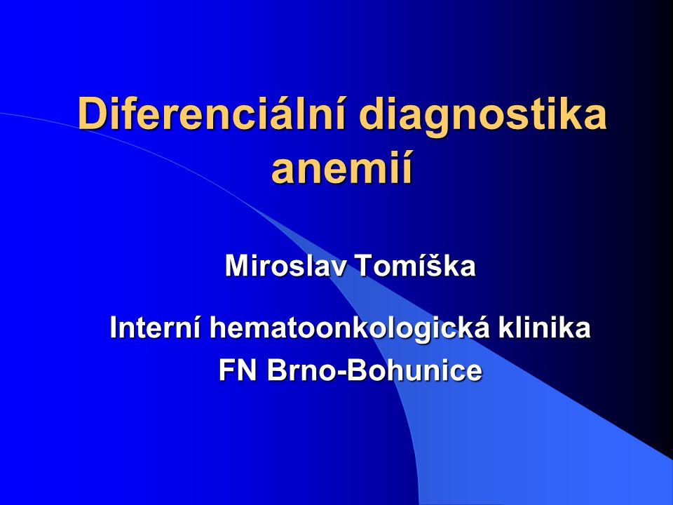 Diferenciální diagnostika anemií