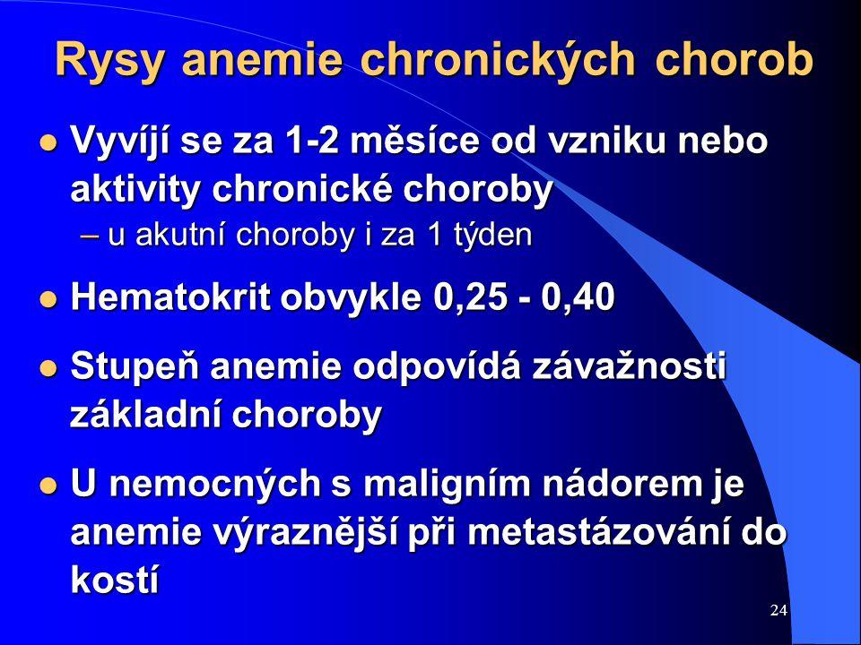 Rysy anemie chronických chorob
