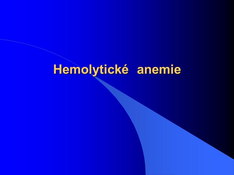 Hemolytické anemie